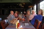 Dinner at Tish's for Frank Zaccone, Becky Smith, Judd Hancox, Claire Kirke, Mary Hansen, Mary Lou Brown & her niece.