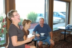 Having breakfast (and a few laughs) at Dean Ratliff's Western Inn are Rachel Smith, Jackie O'Brien and Jeff Rindone