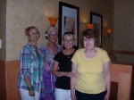 Jackie O'Brien Rindone, Connie Williams Vogelzang, Chris Nelson Reedy, Diane Bradley Kriley