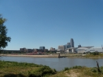 Missouri River and Downtown Omaha.